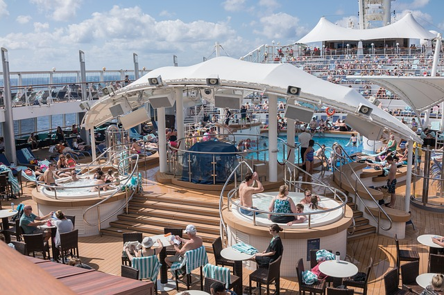 vířivky na výletní lodi