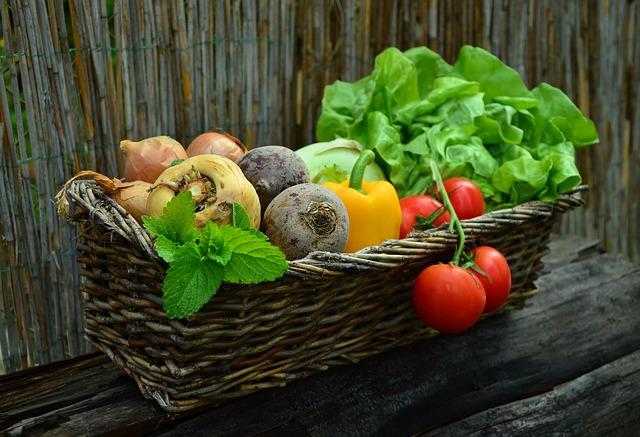truhlík se zeleninou