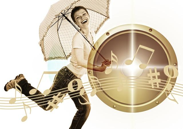 tanec s deštníkem