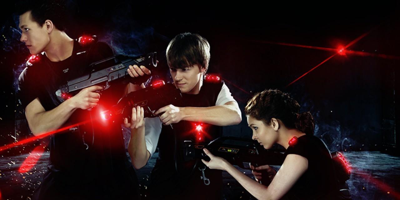 Střílení laserovou zbraní