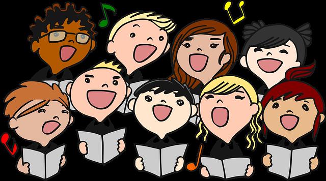 zpívající děti